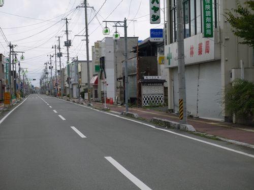 南相馬市小高商店街 原発20キロ圏内